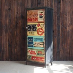 placard vintage bois salon, placards sur mesure